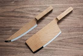 Modern Kitchen Knives The Federal Fdrl Wooden Kitchen Knives Selectism Wooden