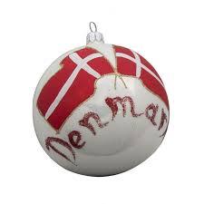 flag of denmark glass ball christmas ornament christmas and city
