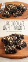 dark chocolate walnut brownies the toasty kitchen