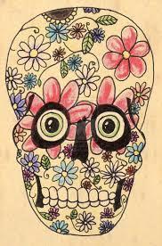 flower sugar skull tattoohelenasaurus