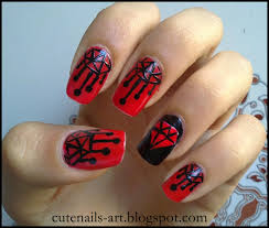 nail art in red and black images nail art designs