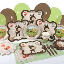 woodland creature baby shower baby shower tableware by babyshowerstuff