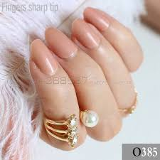 light brown nail polish 24pcs new product sales long small round light brown oval head fake