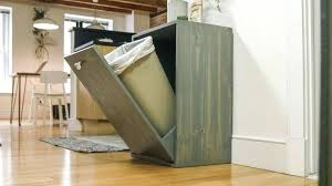 trash cans for kitchen cabinets decorating hidden garbage cabinet gorgeous free standing trash can