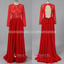 long sleeve red prom dresses trendy open back prom dresses scoop