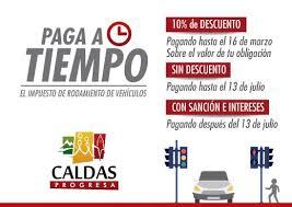 impuestos vehiculos valle 2016 alcaldía de caldas