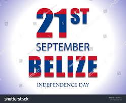 Belize Flag Illustration On Belize Flag Independence Day Stock Vector