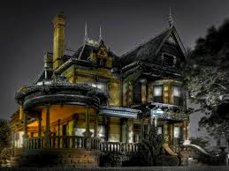 houses residential spirits eerie spooky lights scary victorian