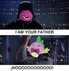 Barney Meme - 1046625 barney darth vader luke skywalker meme safe spike