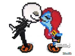 nightmare before christmas jack and sally pixel art wedding or