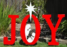 Nativity Outdoor Decorations Christmas Outdoor Decorations Signs Joy Nativity Outdoor