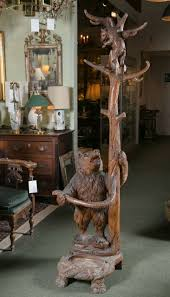 black forest carved bear coat rack or umbrella stand for sale at