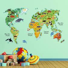 Wall Sticker Australia World Map Wall Decal
