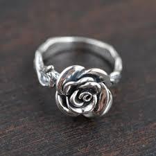 antique rose rings images 100 pure 925 sterling silver cubic rose ring june flower rings jpg