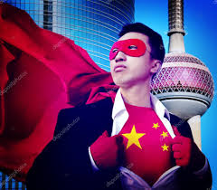 Image Chinese Flag Superhero Businessman With Chinese Flag U2014 Stock Photo Rawpixel