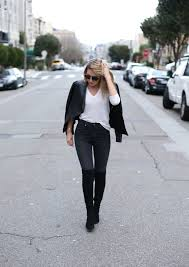 best leather motorcycle boots victoria beckham high waisted faded black skinny jeans ankle zip
