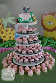 girl themes for baby shower jungle theme girl baby shower cake cakecentral