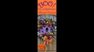 boo halloween wreath tutorial coming soon youtube