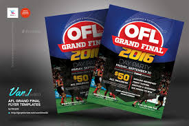 football grand final flyer templates by kinzi21 graphicriver