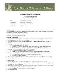 Administrative Assistant Job Duties For Resume by Administrative Assistant Job Description Administrative Assistant