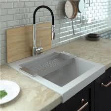 evier cuisine évier timbre d office à poser 1 bac tamarin en granit noir pour