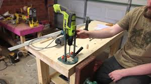 Bench Drill Bunnings 009 Drilling Bench Dog Hole Quick Tip Youtube