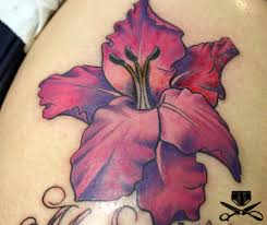color flower tattoo hautedraws