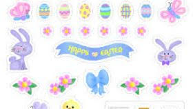 happy easter stickers kamos sticker