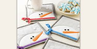 these snowman mug rugs have so much personality quilting digest