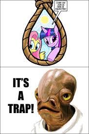 Its A Trap Meme - 1108391 admiral ackbar artist curtsibling fluttershy it s a
