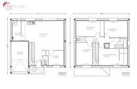 plan de maison a etage 5 chambres plan maison a etage 100m2 homewreckr co