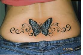 breast cancer butterfly tattoo on shoulder back real photo