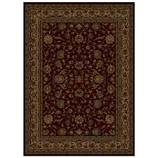 Shaw Carpet Area Rugs by Shop Shaw Living Palace Kashan Rectangular Burgundy Area Rug At