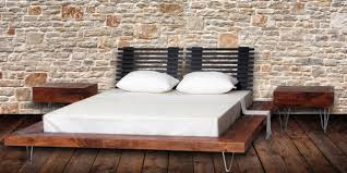 Platform Bed Wood Modern Style Reclaimed Wood Platform Bed Contemporary Platform