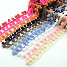 Pom Pom Decorations 5 Meter 1cm Lace Ribbon Fabric Sewing Accessories Pompom Cotton