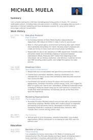 Sample Resume Executive by Executive Producer Resume Samples Visualcv Resume Samples Database