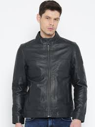 u s polo assn navy leather jacket jackets for men myntra