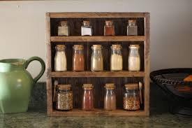 furniture large wooden spice rack with 30 jars for kitchen