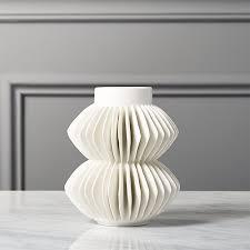white vase celia white vase in vases reviews cb2