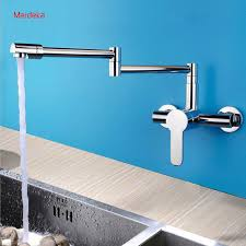 Bathroom And Kitchen Faucets New Arrival Extend Folding Spout Wall Mounted Brass Kitchen Faucet