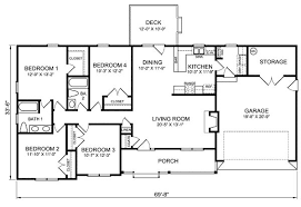 4 bedroom floor plans 4 bedroom ranch house plans plan w26331sd ranch traditional