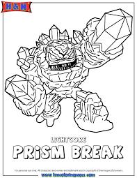 skylanders giants lightcore prism break coloring page h u0026 m