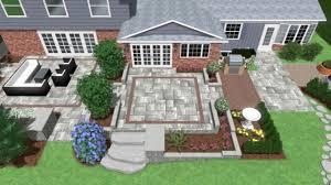 backyard landscaping lounge u0026 dining area multi level patio