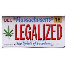 Color Dec Cs007c Legalized Massachusetts Cannabis Hemp License Plate Color