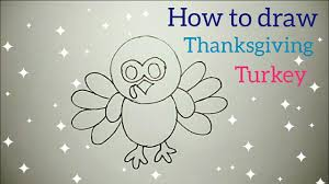 how to draw a turkey step by step thanksgiving turkey youtube