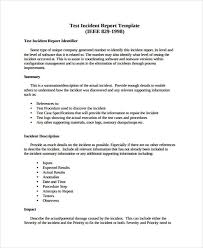 incident summary report template 9 test report templates free word pdf format free