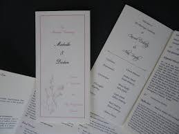 Wedding Booklets Ceremony Booklets Hand Crafted Opulence Wedding Stationery