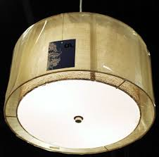 drum light chandelier sheer burlap drum pendant light plug in lamp shade pro