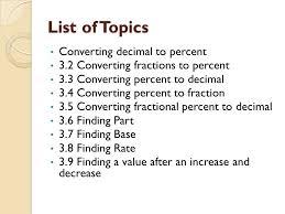 percent to decimal lesson 3 percent ppt