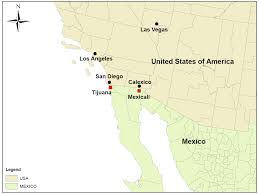 Map Of Tijuana Mexico by Modeling The Dynamics Of Air Pollutants Trans Boundary Impacts In